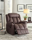 Chocolate Glider Reclining Chair Mankato by Homelegance EL-8535CH-1