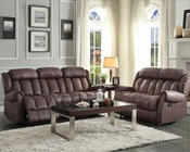 Chocolate Reclining Sofa Set Mankato by Homelegance EL-8535CH-SET