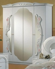 Classic 4 Door Wardrobe Made in Italy, White Finish 44B8418W