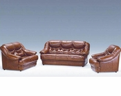 Classic Brown Full Leather Sofa Set 44LMGA
