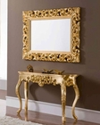 Classic Console Table and Square Mirror Set 33C21