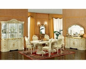 Classic Dining Set in Ivory Finish Made in Italy 33D21
