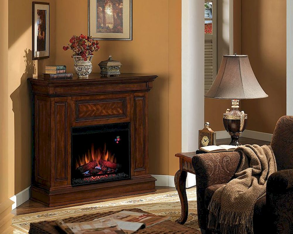 Montgomery 26in electric fireplace and tv stand cherry 26mm2490 c233 - Classic Flame 43 Electric Fireplace Phoenix Ts 23dm537 W502