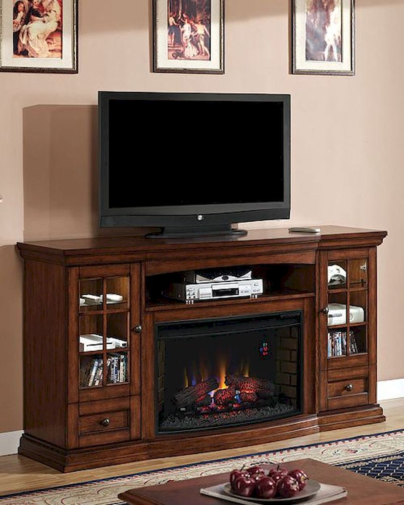 Montgomery 26in electric fireplace and tv stand cherry 26mm2490 c233 - Classic Flame Fireplace