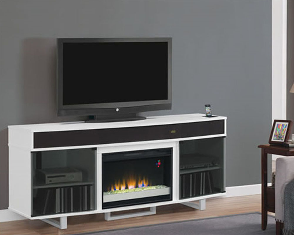 Classic Flame fireplace TV Console Enterprise in Black TS-26MMS9616-N - Fireplace TV Stands