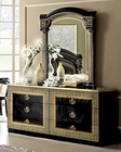 Classic Italian Double Dresser and Mirror Aida 33190AI