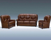 Classic Italian Leather Sofa Set 44LDLS