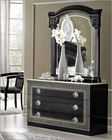Classic Single Dresser and Mirror Made in Italy Aida 33191AD