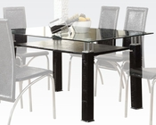 Clear Glass Dining Table Toffy by Acme Furniture AC70722