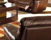 Clifford Brown Leather Rocker Recliner CO600283