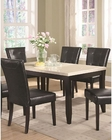 Coaster Anisa Dining Table w/ White Faux Marble Top CO-102771