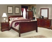 Coaster Louis Philippe Bedroom Set in Cherry CO-200431Set