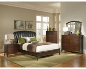 Coaster Bedroom Set w/ Upholstered Shell Headboard Addley CO-202450Set