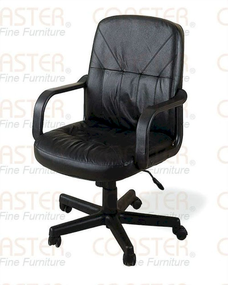 coaster black leather office chair co 4228
