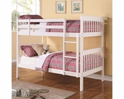 Coaster Bunks Twin Over Twin Bunk Bed in White  CO-460244