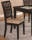 Coaster Casual Lattice Splat Back Chair CO-103342 (Set of 2)