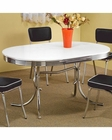 Coaster Chrome Plated Dining Table Cleveland CO-2065