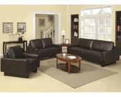 Coaster Contemporary Leather Sofa Set Ava CO-504481Set