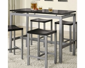 Coaster Counter Height Set Atlus in Black CO-150095Set