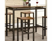 Coaster Counter Height Set Atlus in Black Metal w/ Gold CO-150097Set