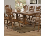 Coaster Dining Oval Trestle Table Brooks CO-104271