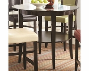 *Coaster Dining Round Pub Table w/ Shelf CO-103688