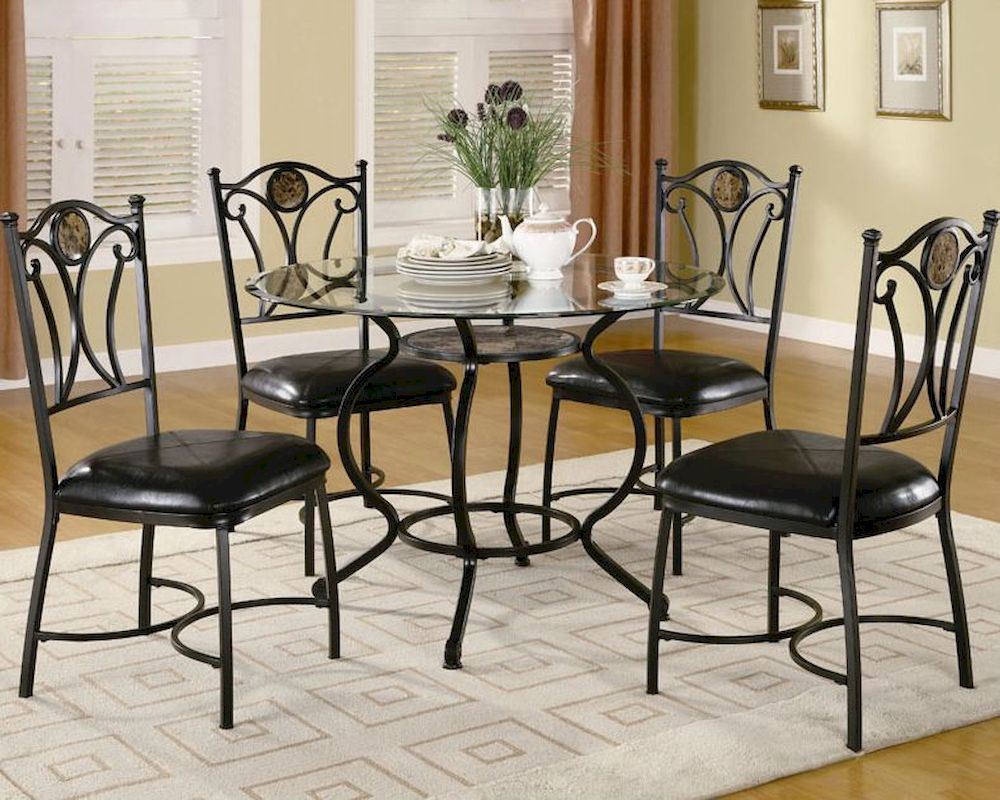 Coaster Dining Set W Glass Table Top Altamonte CO 150501Set