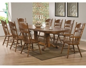 Coaster Dining Set w/ Oval Trestle Table Brooks CO-104271Set
