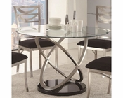 Coaster Dining Table w/ Oval Tempered Glass Tapia CO-121041