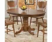 Coaster Dining Table w/ Single Pedestal Brooks CO-104261