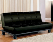 Coaster Furniture Armless Convertible Sofa Bed in Black CO300163