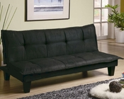 Coaster Furniture Casual Padded Convertible Sofa Bed in Black CO300238