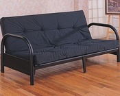 Coaster Furniture Contemporary Metal Futon Frame in Black CO2345