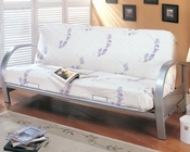 Coaster Furniture Contemporary Metal Futon Frame in Nickel CO7251