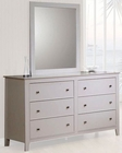 Coaster Furniture Dresser with Mirror in White Selena CO400233-4