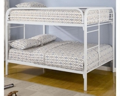Coaster Furniture Full over Full Bunk Bed in White Fordham CO460056W