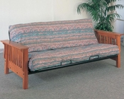 Coaster Furniture Futon Frame with Mission Slat Details in Oak CO4844