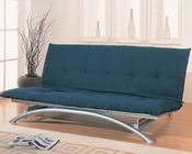 Coaster Furniture Metal Futon Frame in Silver CO300008