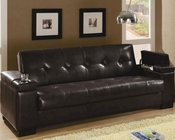 Coaster Furniture Sleeper Sofa with Storage in Dark Brown CO300143