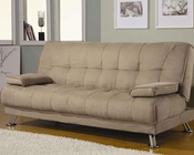 Coaster Furniture Sofa Bed with Removable Armrest in Tan CO300147