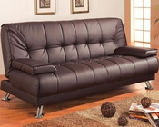 Coaster Furniture Sofa Bed with Removable Armrests in Brown CO300148