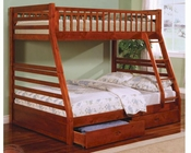 Coaster Furniture Twin over Full Bunk Bed in Honey Oak CO460183