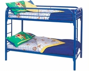 Coaster Furniture Twin over Twin Bunk Bed Fordham in Blue CO-2256B
