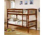 Coaster Furniture Twin over Twin Bunk Bed in Brown Bunks CO460223