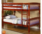 Coaster Furniture Twin over Twin Bunk Bed in Cherry Coral CO460221