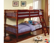 Coaster Furniture Twin over Twin Bunk Bed in Cherry Corinth CO5040CH