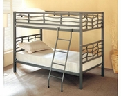 Coaster Furniture Twin over Twin Bunk Bed in Dark Silver Bunks CO7395