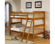 Coaster Furniture Twin over Twin Bunk Bed in Pine Bunks CO460233