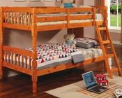 Coaster Furniture Twin over Twin Bunk Bed in Pine Corinth CO5040