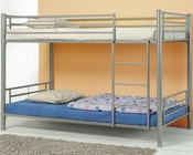 Coaster Furniture Twin over Twin Bunk Bed in Silver Denley CO460072
